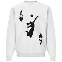 Volleyball Ace of Courts Sweater Sweatshirt Jumper