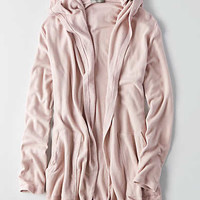 Don't Ask Why Oversized Hoodie Cardigan, Rose