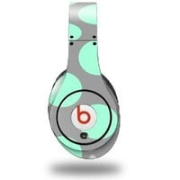 Kearas Polka Dots Mint And Gray Decal Style Skin (fits ORIGINAL Beats Studio Headphones - HEADPHONES NOT INCLUDED)