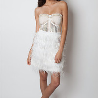 Ostrich feather dress, Gatsby dress, wedding dress, feather dress, bridesmaids dress,white party dress, Homecoming Dress, Short Prom Dress,