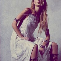 Free People Womens Gemma's Limited Edition White Dress