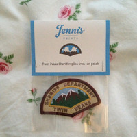 Twin Peaks Sheriff iron-on replica patch
