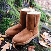 UGG hot sale warm and fluffy new mid-tube non-slip snow boots men and women fashion fluffy casual snow shoes