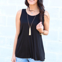 Go with the Flow Basic Tank {Black}