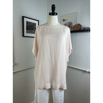 Eileen Fisher Pale Pink Oversized Tee (M/L)