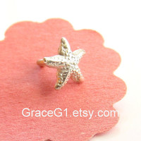New 18g Starfish cartilage earrings cartilage stud earrings, tragus earrings, nose rings stud, L bend or Post, ONE single stud