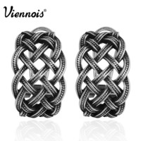 Viennois New Vintage Silver Color Twisted Stud Earrings for Women Retro Party Earrings-in Stud Earrings from Jewelry & Accessories on Aliexpress.com | Alibaba Group