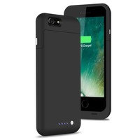 Black 3800 mAh Backup External Battery Charger Case For iPhone 6S 6
