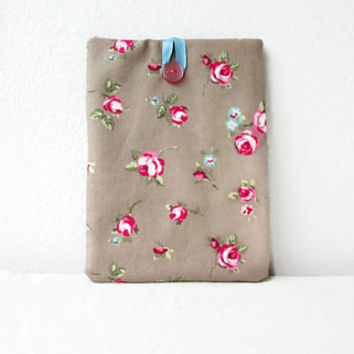 IPad Mini cover, floral fabric, 8 inch tablet case, fabric tablet sleeve, padded tablet cover, IPad mini case, handmade in the UK