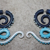 Twisted Tentacle Gauge and Fake Gauge by SwirlyGirlyGoddess