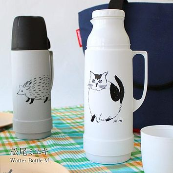 Animal Illustration Water Bottle M