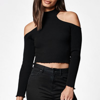 Kendall & Kylie Cropped Cold Shoulder Sweater at PacSun.com