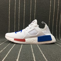 Adidas Boost Nmd Champion x Nmd Xr1 White Women Men Fashion Trending Running Sneakers