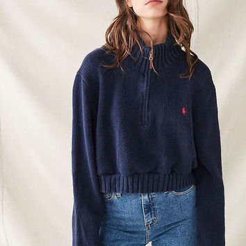Urban Renewal Recycled Half-Zip Polo Sweater | Urban Outfitters