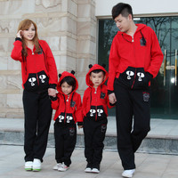 Autumn and winter Family look clothing set autumn fall and winter children clothes cat and big eyes mother and daughter son fath