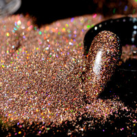 Holographic Darken Brown Nail Art Glitter Powder DIY Manicure Supplies AB Shimmer Powder Dust Nail Salon Product N57