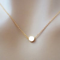 Tiny dot necklace, simple, minimal, karma necklace, goldfilled necklace, minimalist's jewelry, gift, gold dot necklace