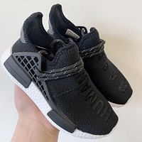 Pharrell x adidas NMD Human Race Black Toddler Kid Shoes Child Sneakers