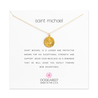 Saint Michael Necklace, Gold Dipped   Dogeared