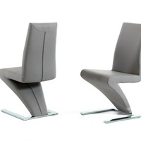 Zayd - Modern Grey Dining Chair (Set of 2)