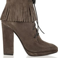 Giuseppe Zanotti - Fringed suede ankle boots