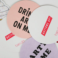 It's The Drink Talking Coaster Set