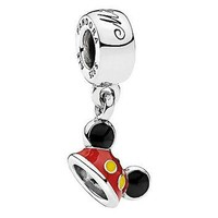 Disney Parks Mickey Mouse Ear Hat Sterling Silver Charm Pandora New