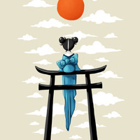 Torii Art Print by Freeminds