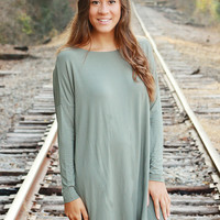 Piko Dress - Olive