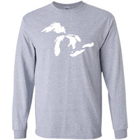 Great Lakes Mid-West Native Clean Water T-Shirt-01  G240 Gildan LS Ultra Cotton T-Shirt