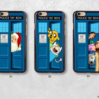 Doctor who With Cartoon Characters Phone Case For iPhone case & Samsung case, H36
