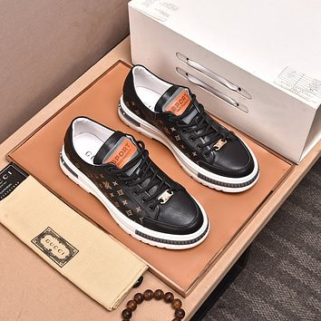 Gucci 2021Men Fashion Boots fashionable Casual leather Breathable Sneakers Running Shoes10110wk