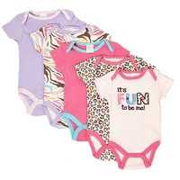 5pk Animal Print Bodysuits 0 9m 372892194 | Layette | 0 6m | Baby Girl by Size | Clothing | Burlington Coat Factory