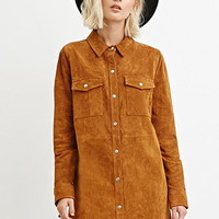 Genuine Suede Shirt Dress