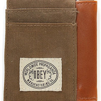 Obey The Detour ID Wallet in Olive