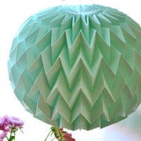 Hanging decorative folded paper bubble ball MINT by tyART on Etsy