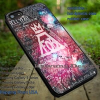 Fall Out Boy Lyrics Collage Galaxy iPhone 6s 6 6s+ 5c 5s Cases Samsung Galaxy s5 s6 Edge+ NOTE 5 4 3 #music #fob dt