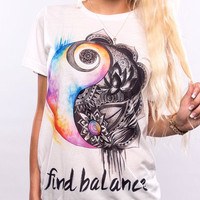 Find Balance, Crew Neck, Unisex Zen, Yin Yang, Cute Top, Shirt, Unisex Shirt, Yoga Clothes, Yoga, Yogi