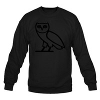 OVO Owl Drake October's Very Own crew neck sweatshirt xs-3xl black black