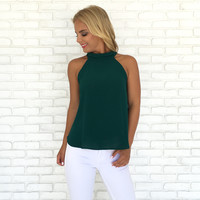 Success Blouse In Hunter Green