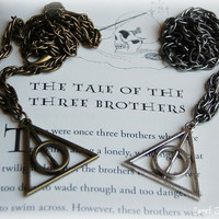 Harry Potter Deathly Hallows Necklace, Men's Harry Potter Deathly Hallows Necklace, Harry Potter Gift