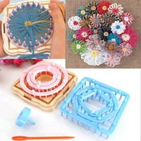 9PCS Flower Knitting Loom Knit Daisy Pattern Maker Wool Yarn Needle Home Craft = 1958419524