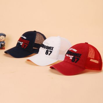 """JIDOOHOX"" Unisex Fashion Casual  Embroidery Letter Patch Print Net Cap Couple Sports Cap Hat"