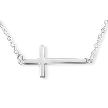 Sterling Silver Cross Necklace for Women