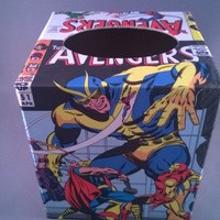 Avengers Decoupage Tissue Box Cover from Paste Pot Prefects