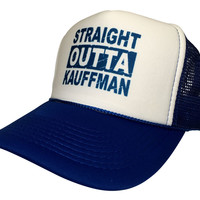 New Curved Bill Straight Outta Kauffman Classical Kc Royals Truckers Cap Hat Snapback