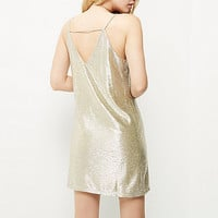 Gold foil slip dress - day / t-shirt dresses - dresses - women