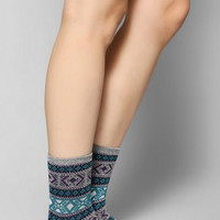 Anonymous Ism Diamond-Pattern Crew Sock - Urban Outfitters