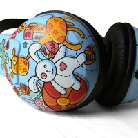 Toys Headphones handpainted by ketchupize on Etsy