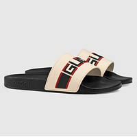 Gucci stripe rubber slippers